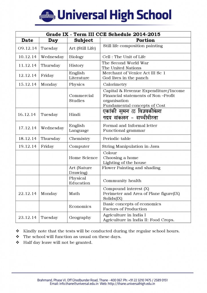 Grade_IX_Term_II_CCE_1_Schedule