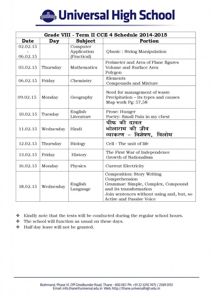 Grade_VIII_Term_II_CCE_4_Schedule