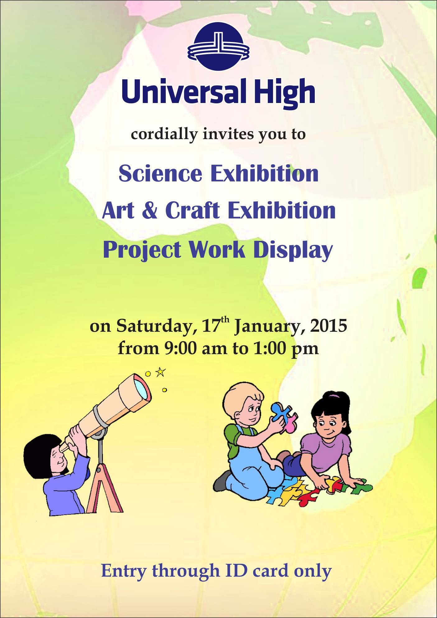 Invite For Annual Exhibition 2014 15 Universal High Thane