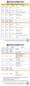 Term I FA 2 Schedule 2017-18 – Class II