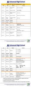 Term I FA 2 Schedule 2017-18 – Class III